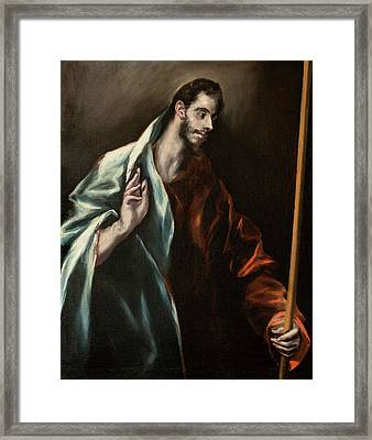 Apostle Saint Thomas Framed Print by El Greco