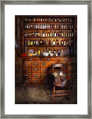 Apothecary - Just The Usual Selection Framed Print by Mike Savad