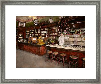 Apothecary - Cocke Drugs Apothecary 1895 Framed Print by Mike Savad