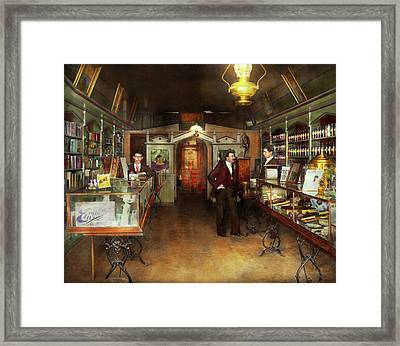 Apothecary - Spell Books And Potions 1913 Framed Print by Mike Savad