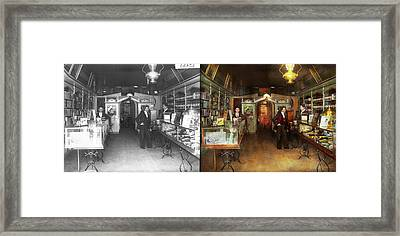 Apothecary - Spell Books And Potions 1913 - Side By Side Framed Print by Mike Savad