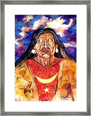 Appache Meditation Framed Print by John Keaton