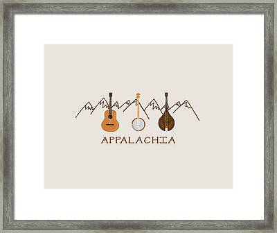 Appalachia Mountain Music Framed Print by Heather Applegate