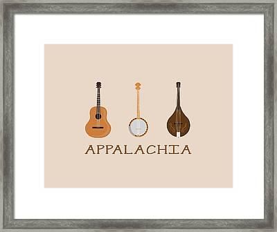 Appalachia Music Framed Print by Heather Applegate