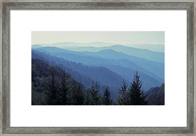 Framed Print featuring the photograph Appalachian Blue by Nicholas Blackwell