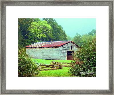 Appalachian Livestock Barn Framed Print by Desiree Paquette