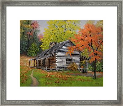 Appalachian Retreat-autumn Framed Print