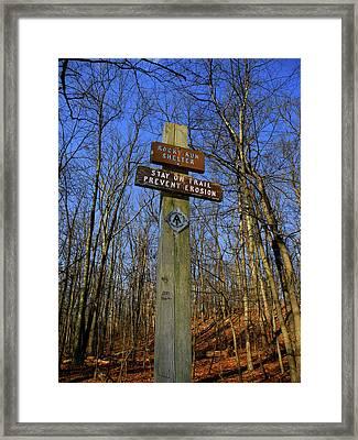 Appalachian Trail In Maryland Rocky Run Shelter Sign Framed Print by Raymond Salani III