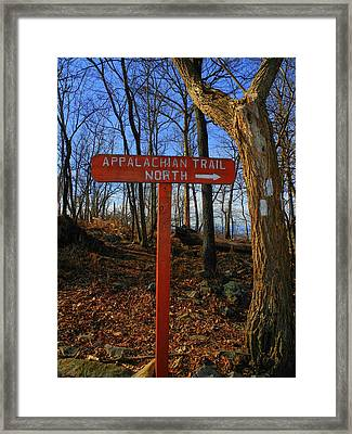 Appalachian Trail In Maryland Sign Framed Print by Raymond Salani III