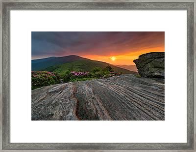 Appalachian Trail Roan Highlands Jane Bald Sunset Landscape Framed Print by Mark VanDyke