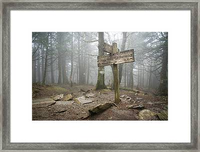 Appalachian Trail Sign Framed Print by Mary Lee Dereske
