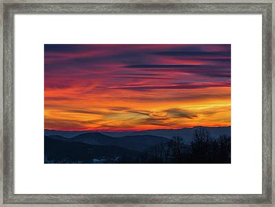 Appalachian Twilight Ecstasy Framed Print by Carl Amoth