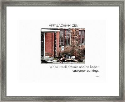Appalachian Zen Framed Print by Steven Digman