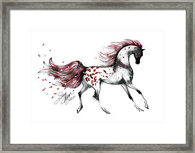 Appaloosa Rose Petals Horse Framed Print by Stacey Mayer