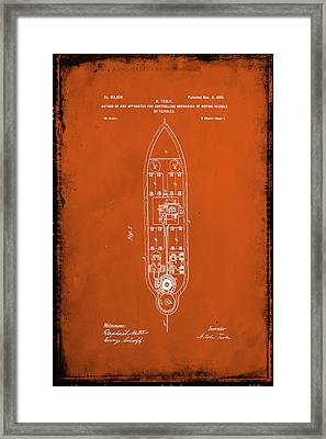 Apparatus For Controlling Moving Vessels Patent Drawing 1a Framed Print