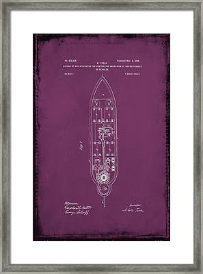 Apparatus For Controlling Moving Vessels Patent Drawing 1b Framed Print