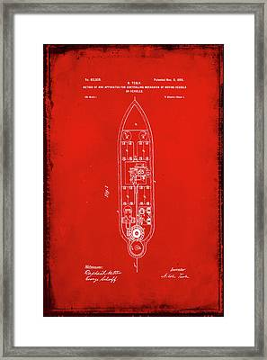 Apparatus For Controlling Moving Vessels Patent Drawing 1e Framed Print