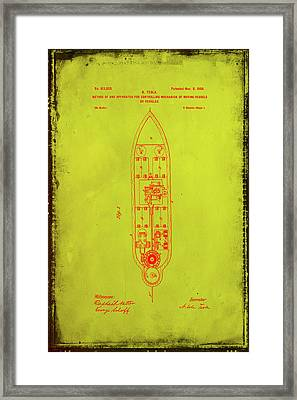 Apparatus For Controlling Moving Vessels Patent Drawing 1f Framed Print