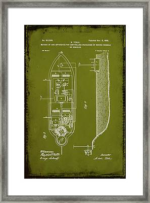 Apparatus For Controlling Moving Vessels Patent Drawing 2b Framed Print