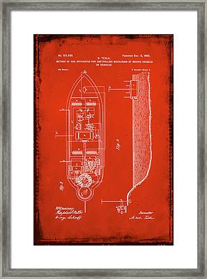 Apparatus For Controlling Moving Vessels Patent Drawing 2c Framed Print