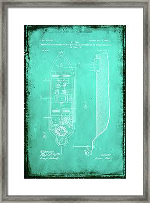 Apparatus For Controlling Moving Vessels Patent Drawing 2e Framed Print