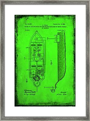 Apparatus For Controlling Moving Vessels Patent Drawing 2f Framed Print