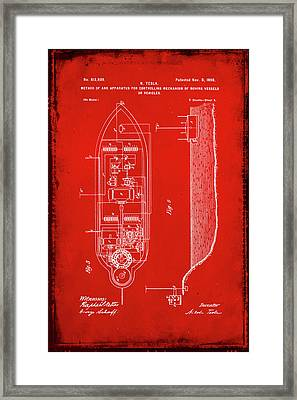 Apparatus For Controlling Moving Vessels Patent Drawing 2g Framed Print