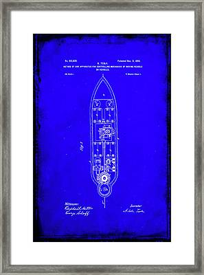 Apparatus For Controlling Moving Vessels Patent Drawing  Framed Print