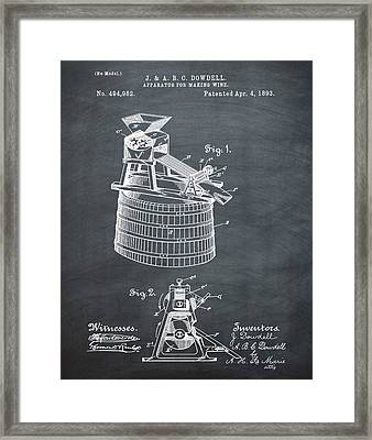 Apparatus For Making Wine Patent 1893 Chalk Framed Print by Bill Cannon