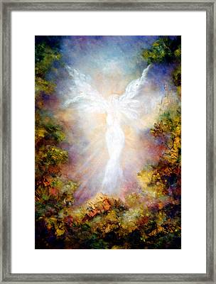 Framed Print featuring the painting Apparition II by Marina Petro