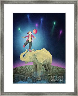 Framed Print featuring the digital art Applause by Jutta Maria Pusl