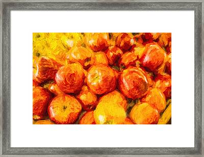 Apple A Day - Impressionism Framed Print by Barry Jones