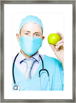 Apple A Day Keeps The Doctor Away Framed Print