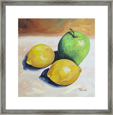 Apple And Lemons Framed Print