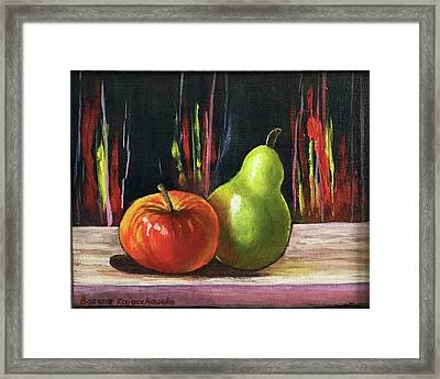 Apple And Pear Framed Print