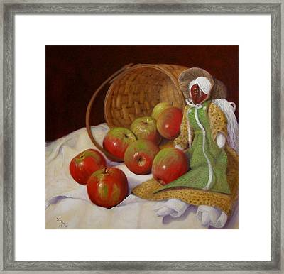 Framed Print featuring the painting Apple Annie by Donelli  DiMaria