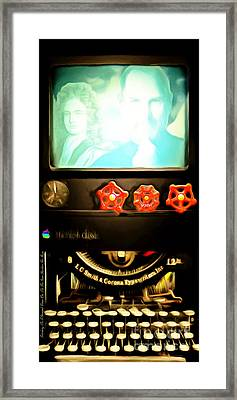 Apple Announcement Introducing The I-steampunk One 20160321 Framed Print by Wingsdomain Art and Photography