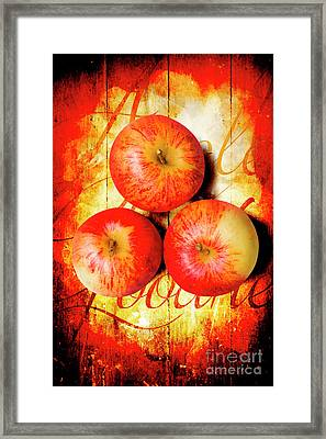 Apple Barn Artwork Framed Print