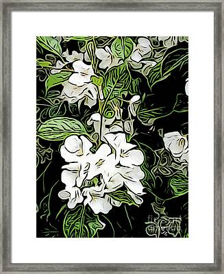 Apple Blossom 1 Framed Print by Ron Bissett