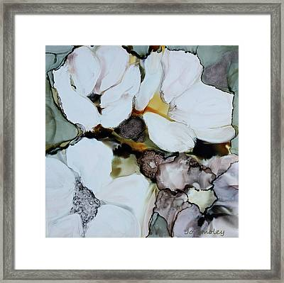 Framed Print featuring the painting Apple Blossoms by Joanne Smoley