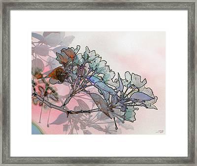 Framed Print featuring the digital art Apple Blossoms by Stuart Turnbull