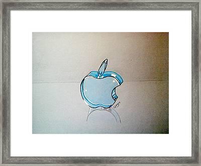 Apple Blue Glass 3d