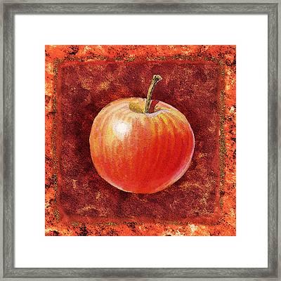 Apple By Irina Sztukowski Framed Print by Irina Sztukowski