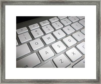 Apple Computer Keyboard Framed Print by Thomas Woolworth