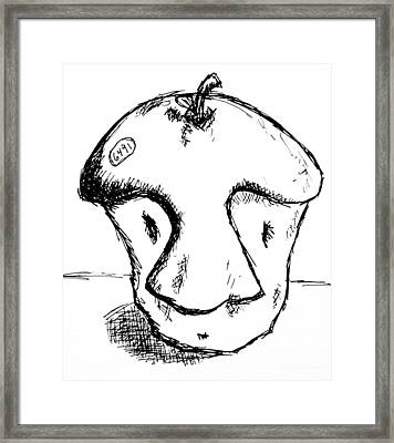 Apple Core Framed Print