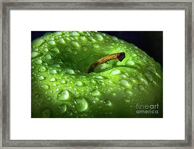 Apple Drops Framed Print by Robert Anastasi