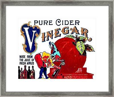 Apple Gnome Vinegar Framed Print
