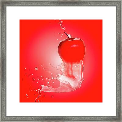 Apple Juice Framed Print by Thomas Wolter