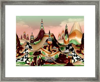 Framed Print featuring the photograph Apple Land Countryside by Barbara Tristan