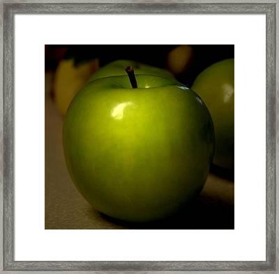 Apple Framed Print by Linda Sannuti